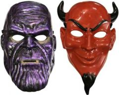 PTCMART Thanos Shape And kirmada Shape Face Mask Party Mask(Multicolor, Pack of 2)