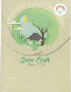 Toss Green Earth 2021 B5 Diary Ruled 330 Pages (Light Green) (TOD-39) (Pack Of 1)