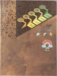 Toss Values 2021 B5 Diary Ruled 330 Pages For Office (Brown) (Pack Of 1)