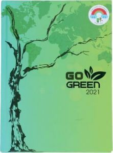 Toss A5 Diary Ruled 330 Pages (Green) (TOD-51 Go Green 2021) (Pack Of 1)