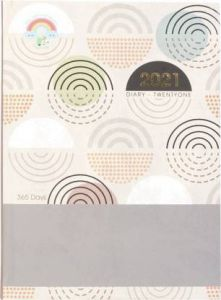 Toss 2021 A5 Diary Ruled 365 Pages For Office & Personal (Multicolor) (TOD 6) (Pack OF 1)