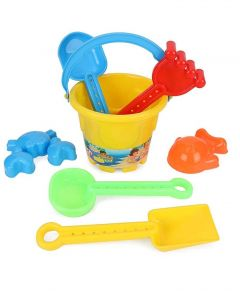 Beach Water Tools Toys for Sand Game, For Kids (Pack Of 7)