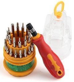 SKY-BLUE Screwdriver Tool Kit Set Magnetic 31 in 1 Repairing (Multi-Color) (Pack of 31)