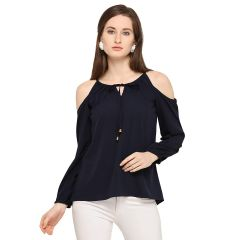 GP Daisy Stlyish Flower Printed Full Sleeves Top for Womens (Color:-Blue)