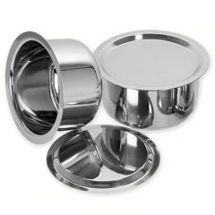 Multipurpose Induction & Gas Stainless Steel Flat Bottom Tope Cookware (Pack of 2)