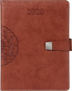 Toss 2020 B5 Diary Single Rule Soft Bound 330 Pages (Brown) (Pack Of 1)