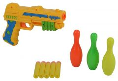 Foam Bullet Toy Gun With Target Made With Plastic Material For Kids, Boys & Girls (Pack Of 1)