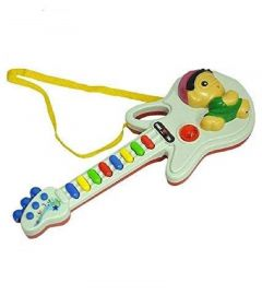 Toy Guitar Single Mode With Regular Musical Hymn Full Mode With 8 Different Musical Sounds (Pack Of 1)