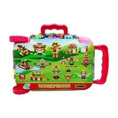 TECHTOY Dream Castle Building & Construction Toys Blocks For Kids (Multi-Color) (75 Trolley Box)