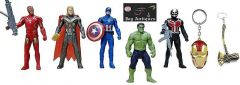 Avengers Toys Set - Captain America, Ironman, Hulk, Ant Man And Thor - Infinity War 5 Action Hero Collection Randome Colour Avengers Height : 4.5 Inches (Pack Of Avengers Toy Set)