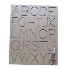 Tracing Capital Alphabet Board for Learning Kids (Pack Of 1)