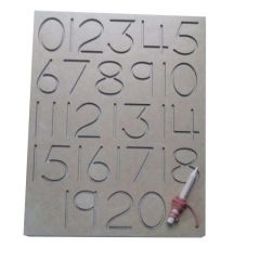Tracing Number Board for Learning Kids (Pack Of 1)