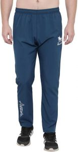 ADAAISTIC SPORTS Solid Polyester Blend Elastic Track Pants For Men's (Blue) (Pack of 1)