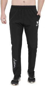 ADAAISTIC SPORTS Solid Polyester Blend Elastic Track Pants For Men's (Black) (Pack of 1)