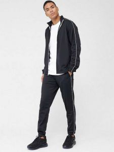 ADAAISTIC SPORTS Solid Polyester Blend Track Suit For Men's (Black) (Pack of 1)