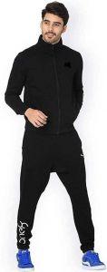 ADAAISTIC SPORTS Regular Fit Polyester Blend Solid Track Suit For Men's (Black) (Pack of 1)