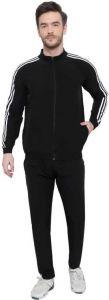 ADAAISTIC SPORTS Regular Fit Polyester Blend Striped Track Suit For Men's (Black) (Pack of 1)