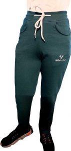 Livster Solid Men & Women Track Pants For Running (Dark Green)
