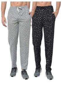 CottonPanda Stylish Combo Track Pants for Men's (Pack of 2)