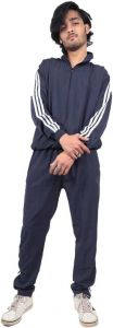ADAAISTIC SPORTS Striped Solid Polyester Blend Track Suit For Men's (Blue) (Pack of 1)