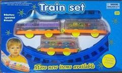 Battery Operated Track Toy Train Set For Kids (Easy Self Assembly Train Tracks And Pieces) (Pack Of 1)