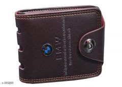 Stylish & Fashionable with Perfect size Leatherette Brown Wallet | Pack of 1