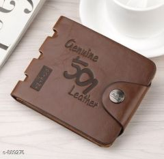 Stylish & Fashionable with Perfect size Leatherette Wallet (Color: Brown) | Pack of 1