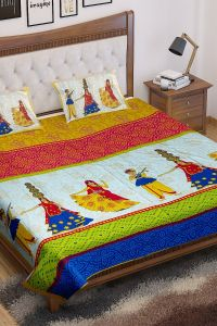 Jayram Textile | Jaipuri Bedsheet Is Made From Glace Cotton | Soft And Smooth