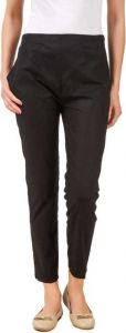 YadavEnterprises Regular Fit Cotton Lycra Blend Trousers for Womens (Black) | (Pack of 1)