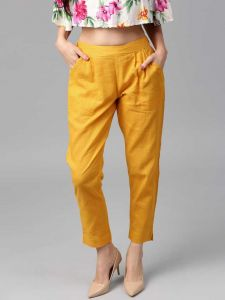 Fearless Fashion Party Occasion And Regular Fit Cotton Blend Trousers For Women's & Girls (Pack of 1)