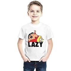 Sinchan Printed T-Shirts Round Neck Half-Sleeves Regular Fit for Kids (Pack of 1)