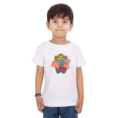 Round Neck T-Shirts Half-Sleeves in Printed Style Regular Fit for Kids (Pack of 1)