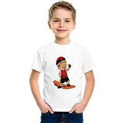 Mighty Raju Printed T-Shirts Round Neck Half-Sleeves Regular Fit for Kids (Pack of 1)