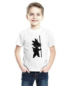 Half-Sleeves Round Neck T-Shirts in Printed Style Regular Fit for Kids (Pack of 1) (White)