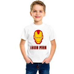 Iron Man Printed T-Shirts Round Neck Half-Sleeves Regular Fit for Kids (Pack of 1)