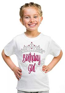 Birthday Girl Printed T-Shirts Round Neck Half-Sleeves Regular Fit for Kids (Pack of 1)