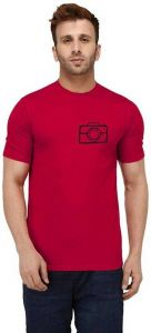 Elegant Printed Cotton Round Neck Short Sleeves Casual T-Shirt For Men's (Pack of 1)