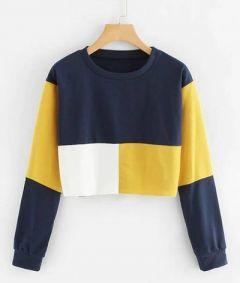 Printed Cotton Fabric Regular Length Round Neck Tshirt For Womens