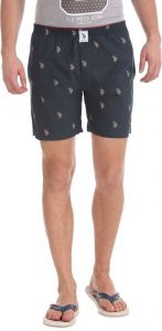 U.S. POLO ASSN. Cotton Blend Printed Boxer For Men's (Blue) (Pack of 1)