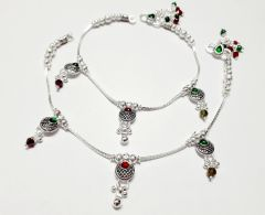 Exclusive Vj Sterling Silver Partywear Anklets Ethnic Wear