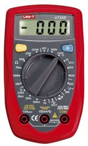 Easy Electronics UNI-T UT-33 Digital Multimeter (Red, Pack of 1)