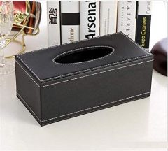 Rectangular PU Leather Facial Tissue Box for Home & Office