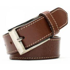 Winsome Deal Leather Formal Belt For Men's Brown Pack of 1