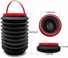VRENTERPRISE Multi-Purpose Car Dustbin Mini Portable (Black) (Pack of 1)