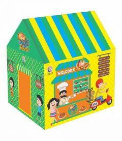 VRENTERPRISE Waffle House Tent for Kids to Play (Multi Colors) (Pack of 1)