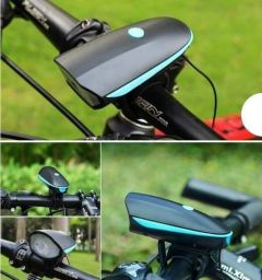 VRENTERPRISE Bicycle Bike LED Headlight and Horn with Waterproof Quality Light (Pack of 1)