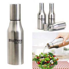 VRENTERPRISE 1000 ML Steel Oil Dispenser Bottle (Silver) (Pack of 1)