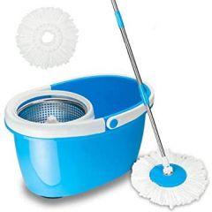 VRENTERPRISE Basket Microfiber Mop Steel Cage (Blue) (Pack of 1)