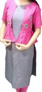 VRENTERPRISE Straight Kurti of Khadi Cotton Fabric (Pack of 1)