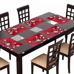 VRENTERPRISE Table Placement for Dining Table (Pack of 6)